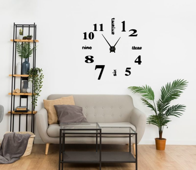 Reloj de pared letti grande ebani colombia decoracion