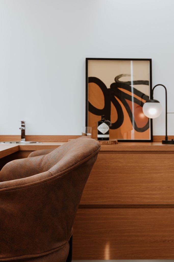 Oficinas rústicas, ejemplo de decoración de oficina rústica