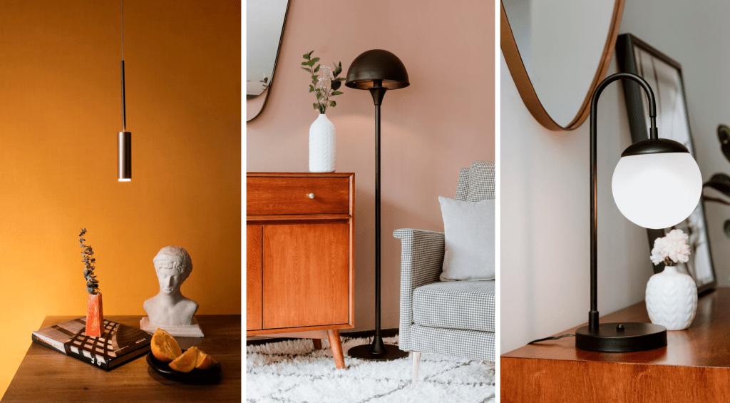 Lampara de piso lampara de mesita de noche lampara de techo minimalista ebani