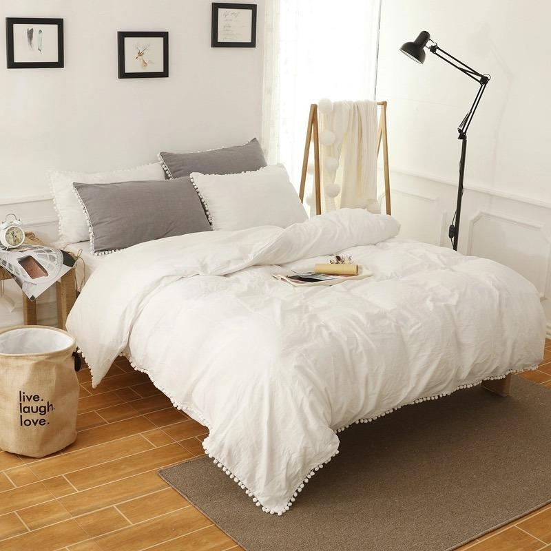 edredón duvet blanco decoración ebani