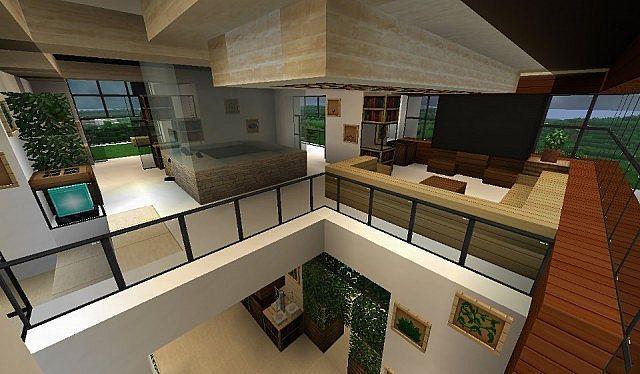 Juegos de decoración como minecraft te ayudan a aprender a decorar interiores, Interior de una casa con decoración de lujo en minecraft