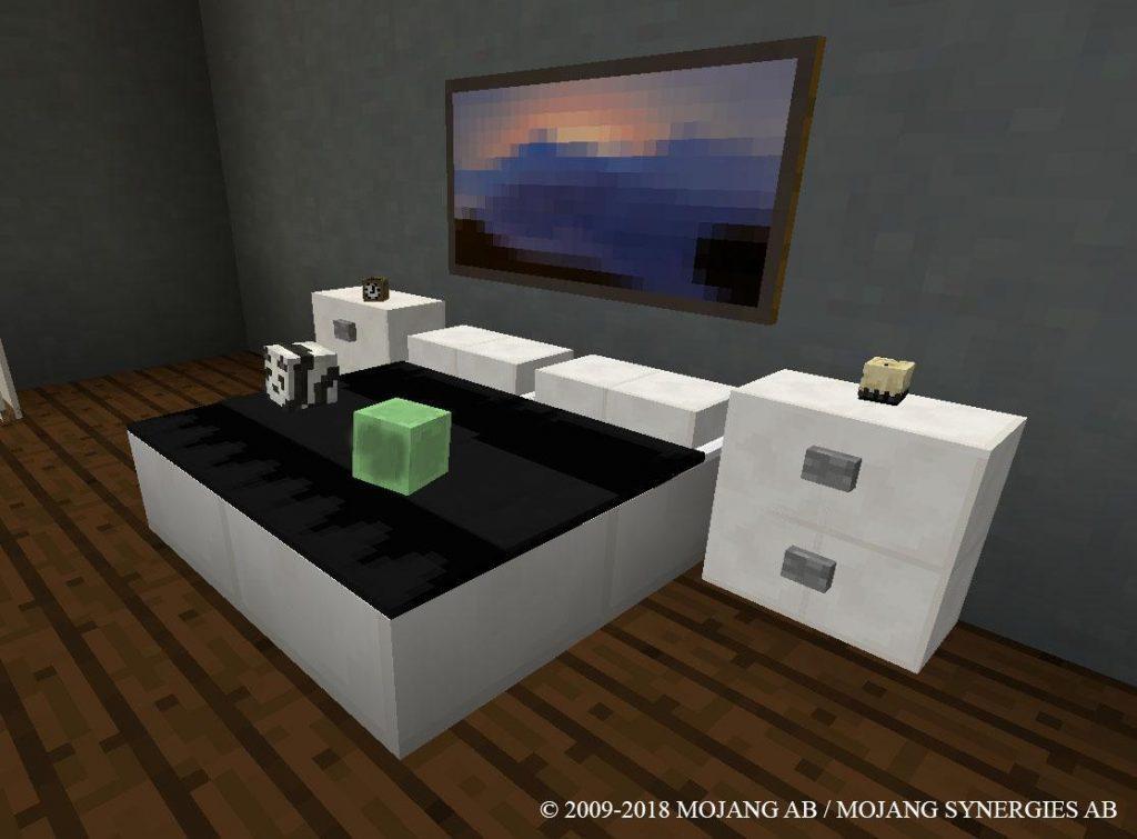 Juegos de decorar casas, habitación decorada con estilo en el juego minecraft