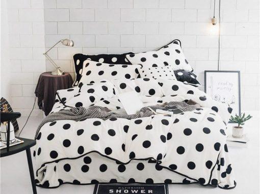 Edredon o Duvet doble faz minimalista negro y gris Ebani ropa de cama