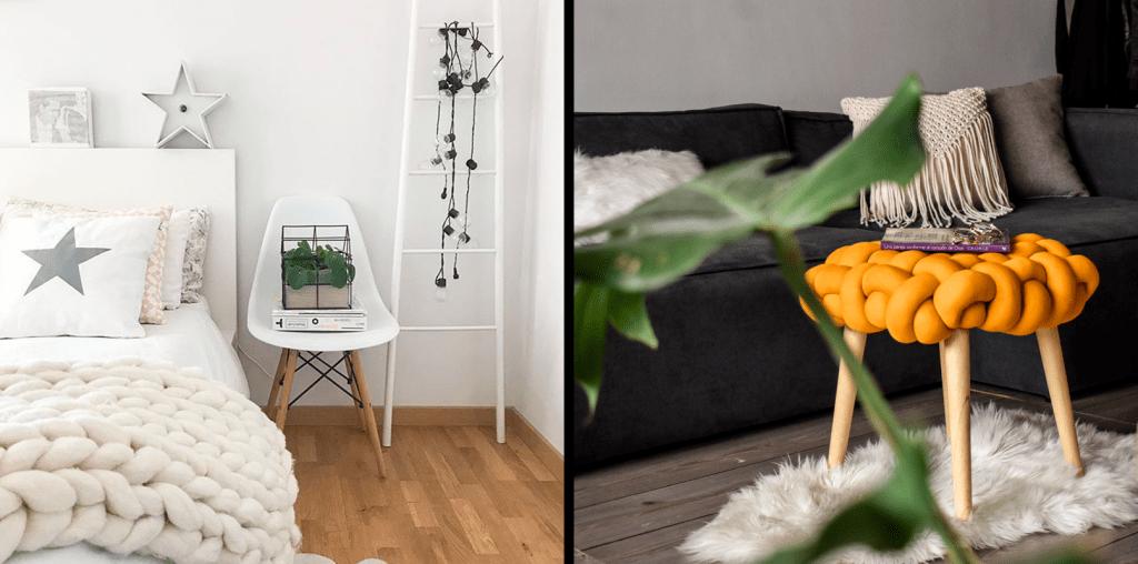 cuartos decorados con silla eames nordica y puff nordico anastasia ebani