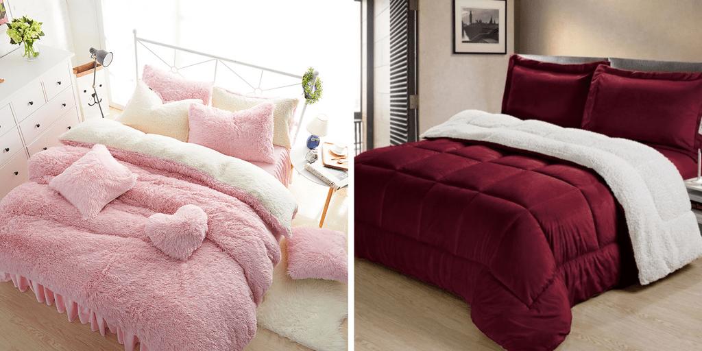 duvet termico en felpa rosado ovejero ebani colombia ropa de cama